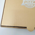 Pizza box with specialty paper