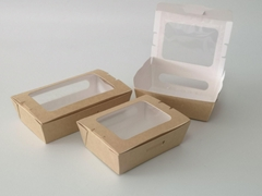 Kraft fpaper folding food packaging
