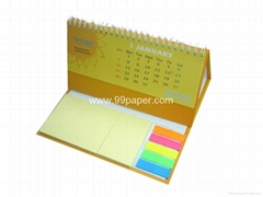 Sticky note with calenda