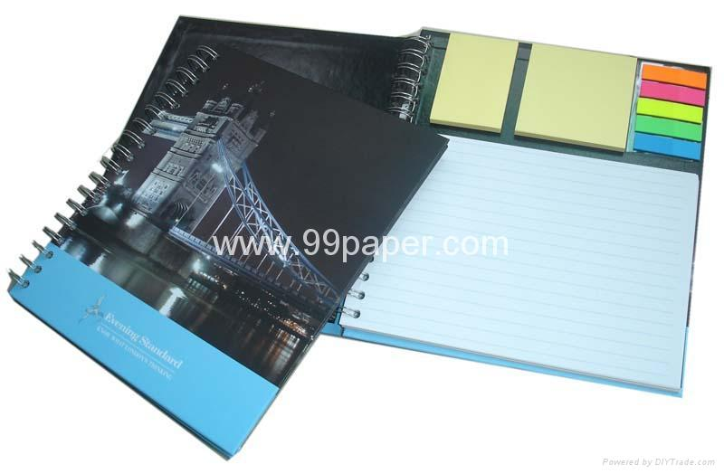 """99-B21 """"Note book with sticky pad and page marks"""""""
