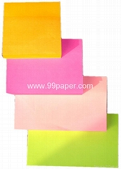 Neon paper sticky notes