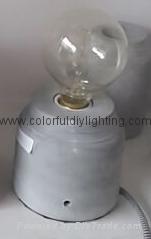 vintage concrete table lamp