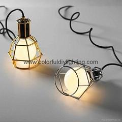 caged vintage lamp