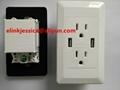 High Quality Dual Socket USB Wall Outelt