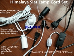 Salt Lamp Power Cord Rotate On OFF Dimmer switch lampholder