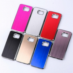 Aluminum Back Case For Samsung Galaxy S6 Silver Plating Plastic Cover