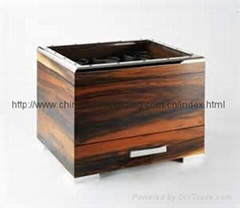 OEM High class glass top Natural Wooden watch gift display box