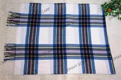 plaid style   jacquard scarf and shawl