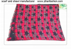 star red color scarf and shawl