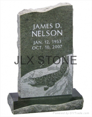 American style black granite monument with engraving 3