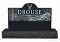 American style black granite monument with engraving 2