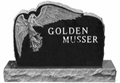 American style black granite monument with engraving 4