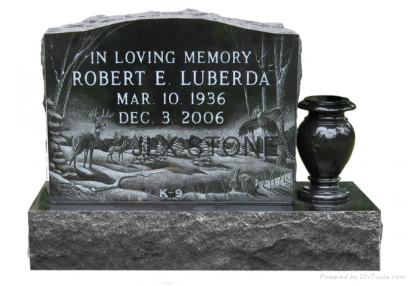 American style black granite monument with engraving 5