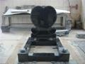 Black headstone heart shape granite
