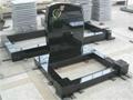 Black headstone granite gravestone with