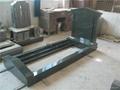 Green headstone granite tomstone with