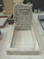 Germany style granite headstone for grave cemetery