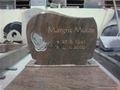 granite headtone with slab monument for