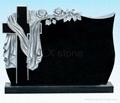 Poland style headstone black monument