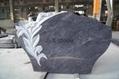 Italian granite headstone with flower
