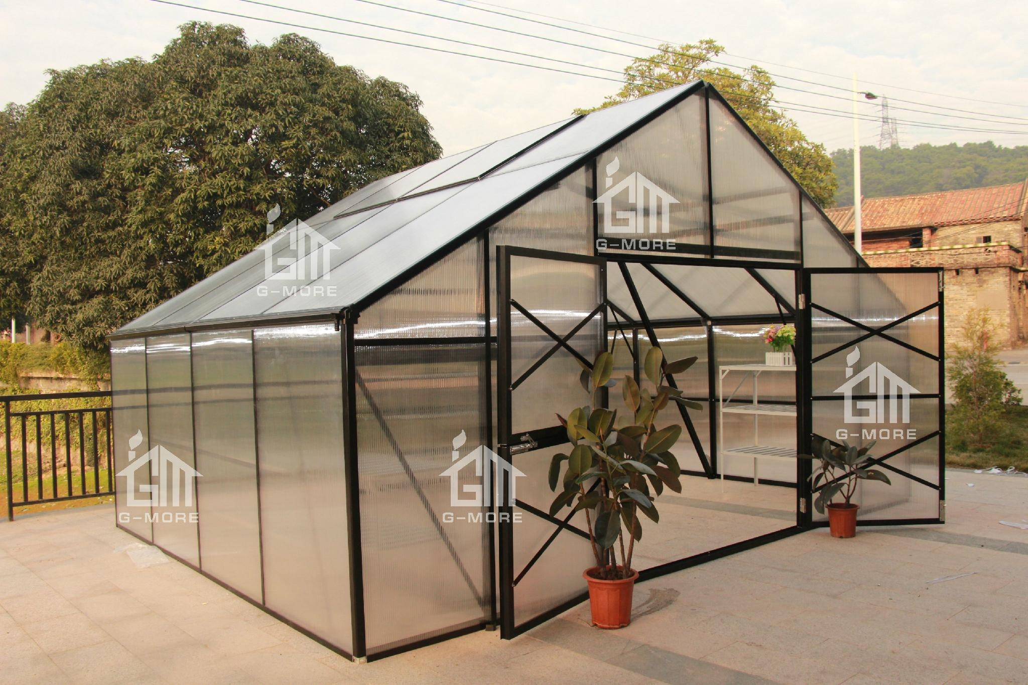 2015 New Free Shipping 5M Width Hobby Greenhouse  5