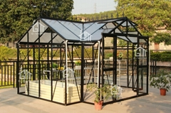 2015 Free shipping T Shape Hobby Greenhouse Orangery Series -10 Years Warranty