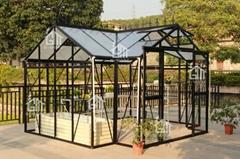 2015 Free shipping T Shape Hobby Greenhouse Orangery Series -10 Years Warranty