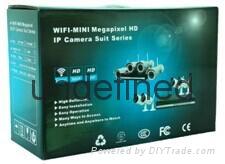 雷克960p无线wifi摄像机套装4+1