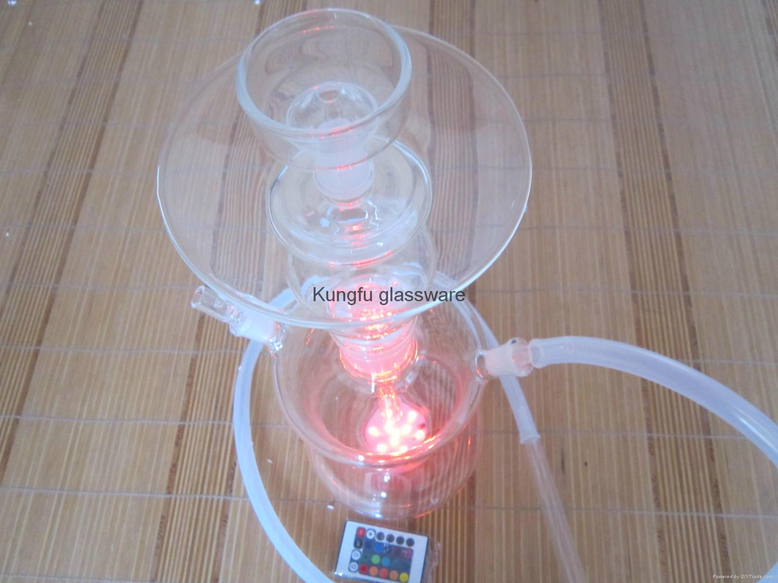 带变色led灯的俄罗斯玻璃艺术水烟 2