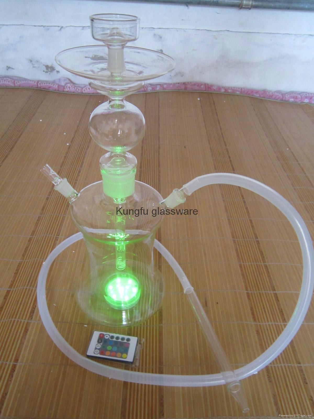 带变色led灯的俄罗斯玻璃艺术水烟 1