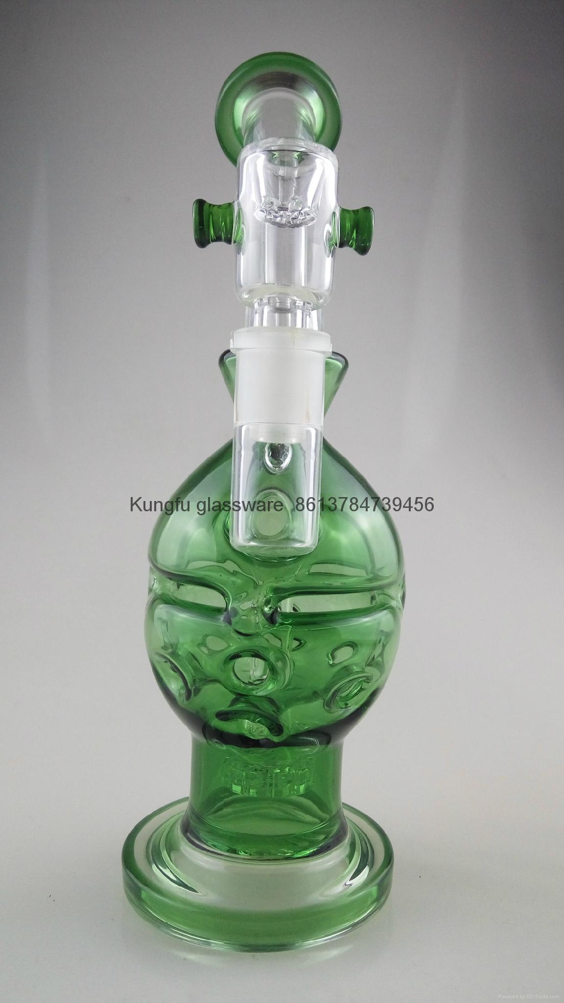 新款高硼硅玻璃烟枪水烟 1
