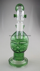 new style borosilicate glass bong smoking pipe