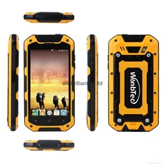 4.5inch quad core ip67 oem rugged phone wi58c