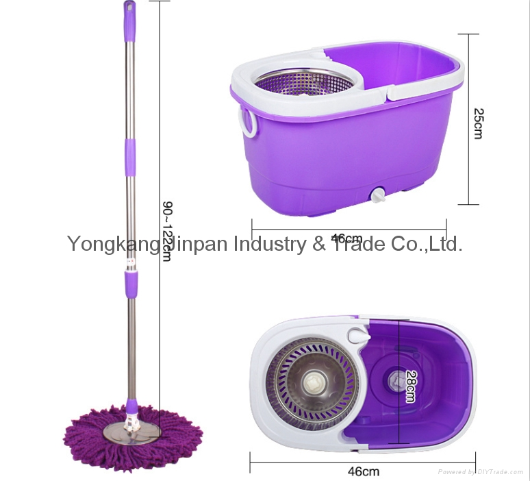 Cleaning Product Microfiber Spin 360 Mop Bucket 4