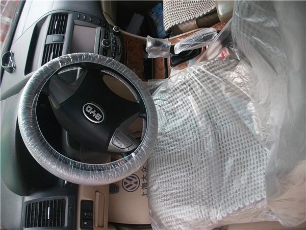 LDPE white disposable steering wheel cover with elastic ribbon 5
