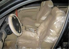 Economic cheap disposable PE plastic auto seat cover for wholesale by Factory