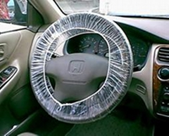 Clear HDPE plastic steering wheel cover with elastic factory directly