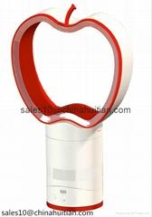 Aaron apple shape bladeless fan 10 inch desk top fan