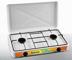 two burner gas hob European gas cooker