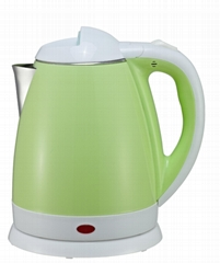 colorful cover CE certificated 1.8L electric double wall kettle cool touch keep