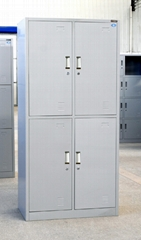 Luoyang direct factory steel bedroom furniture 4 door wardrobe