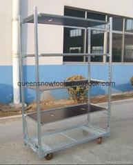 Metal Flower Rack Display Cart for Greenhouse