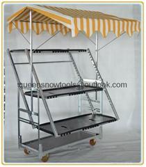 Greenhouse Trolley Foldable Plant Display Rack Cart