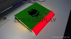 LED acrylic display counter stands