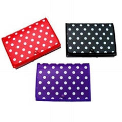 Polka Dot Desktop Expanding File 7 pocket