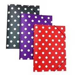 Polka Dot 3 Flap Folder