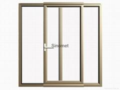 Casement aluminum sliding door profiles