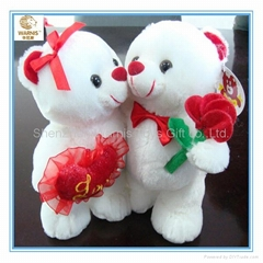 Stuffed plush teddy bear for wedding and lover gift