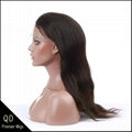 Indian remy hair natural straight full lace wigs 2