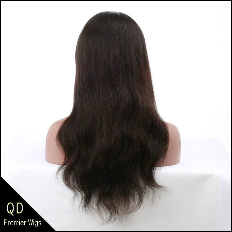 Indian remy hair natural straight full lace wigs 4